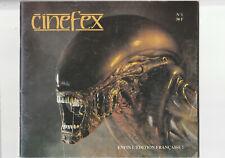 Cinefex éd° française # 1 Alien Batman science fiction cinéma effets spéciaux