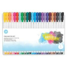 Docrafts Artiste Fineliner Drawing & Writing Pen Set of 24 Colours New