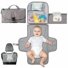 Baby's Portable Changing Pad Nappy Kit for Travel Home + Pouch Bag