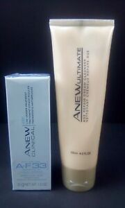 AVON ANEW Ultimate Age Repair Cream Cleanser 4.2 oz & Anew Clinical A-F33 1.0 oz