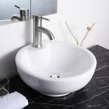 "Aquaterior™ 16"" Bathroom Porcelain Ceramic Vessel Sink w/Pop Up Drain & Overflow"