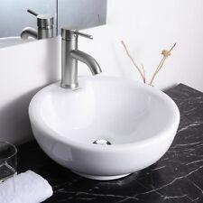 "Aquaterior™ 16"" Bathroom Porcelain Ceramic Vessel Sink w/Pop Up Drain & Overflow"