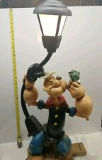 Popeye Street light with working lamp Figurine Statue - Kings Features/Hearst