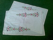 BEAUTIFUL HAND MADE WORK TROLLEY PLACE MATS HARDLY USED 2 PIECE BARGAIN