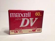 1 Maxwell Mini DV 60 minutes New Sealed Digital Video Blank Cassettes Tape