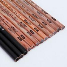 12Pcs Colored Charcoal with Drawing Sketching Non-toxic Pencils Set Art Supplies