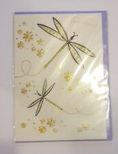 Elegant Gold Embellished Butterfly Card - Clearance