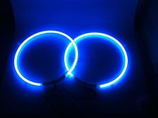 10 Inch Blue Neon Speaker Rings - Subwoofer Glow Car Lighting Kit W Music Dancer