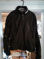 TEKNIC PADDED BLACK POLYESTER MESH MOTORCYCLE JACKET Sz 42/52