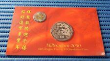 Singapore Millennium 2000 $10 Dragon Coin & $5 Circulation Coin Set