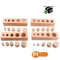 Poids en bois Montessori 4 supports 16*4 cm Matériel mathématiques et sensoriel