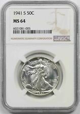 1941-S Walking Liberty Half Dollar 50C MS 64 NGC