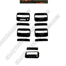 For Ford F150 F-150 2004-2013 2014 black Door Handle Covers KP w/o PK TAILGATE