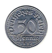 DEUTSCHES REICH - 50 Pfennig 1920 E - ERROR Verprägung FAUTEE