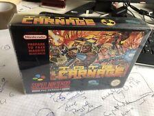 """Super Nintendo Spiel """" Total Carnage """" Snes   Pal   Ovp"""