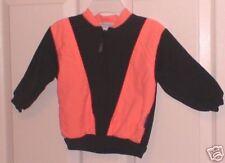 Orange Black Jacket OshKosh 18 months Neckline Zipper Fleece Material Inside