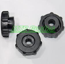 10 BLACK Plastic Nylon M6 Thumb Nuts With Collar, 16mm OD