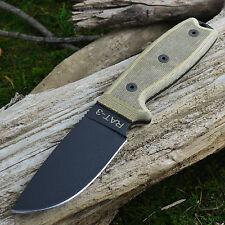 Ontario Knife Company RAT 3 1095 Plain Edge Survival Knife Green Sheath 8632