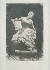 gravure eau forte originale de RINGEL.Parisienne.1885, l'Art