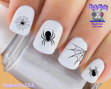Nail Art #734H HOLIDAY Halloween Spider Web WaterSlide Nail Decals Transfers