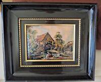 French Limoges Enamel Copper Pierre Bonnet hand painted enamel picture signed