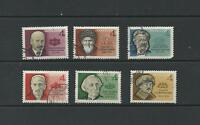 RUSSIA SC 2894 - 2896C  COMPLETE SET / 6 - FAMOUS RUSSIANS / USED - CTO 1964