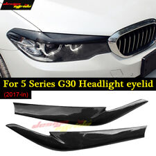 For BMW G30 530i 540i M550 Carbon Fiber Headlight Eyelid Cover Eyebrow 2pc 17-18