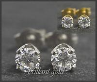 Diamant Brillant Damen Ohrstecker 585 Gold/ 0,15-0,45ct/ Top Wesselton/ VS-Si