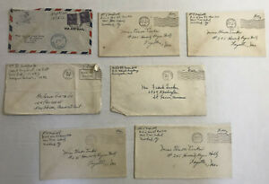 1942 7 WWII military covers domestic [y4507]