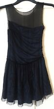 Kate Moss Topshop Navy Silk Tulle Dress Size 6