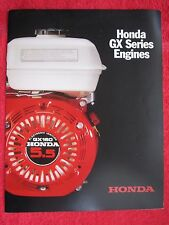 HONDA GX SERIES ENGINES BROCHURE WITH SPECIFICATIONS