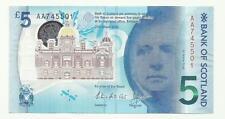 AA Prefix Bank Of Scotland 2016 New Uncirculated Polymer £5 Note *AA PREFIX*