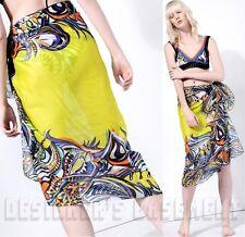 EMILIO PUCCI large Yellow GRASSHOPPER cotton Batiste PAREO shawl NWT Authen $460