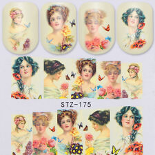 Nail Art Water Transfer Decal Manicure Sticker Vintage Palace Design DIY