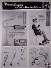 PUBLICITÉ 1968 MOULINEX ÉLECTROMÉNAGER FÊTE DES MÈRES - ADVERTISING