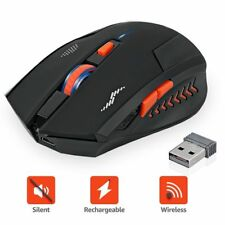 Wireless Mouse Rechargeable Silent Buttons Computer Mouse 2400DPI Gaming Mice