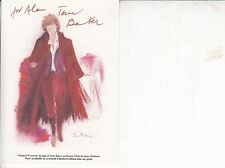 TOM BAKER SIGNED PHOTO CARD 6 x 4 INCH