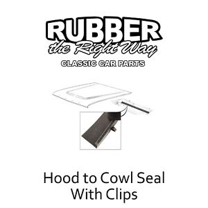 1963 1964 Ford Fairlane Hood to Cowl Seal w/ Clips