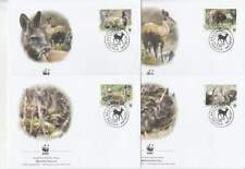 WWF 4 x FDC Afghanistan 2004 - Hert / Deer (264)