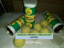 1 Sealed Vintage Slazenger Tennis Ball Can Made in England + Free 2 Cans 6 balls