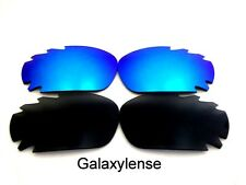 Oakley Replacement Lenses For Jawbone Black&Blue Polarized 100%UVA&B 2Pair