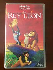 EL REY LEON - VHS TAPE CINTA COLECCIONISTA 85 MIN - CASTELLANO EN BUEN ESTADO
