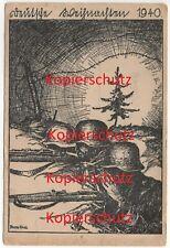 WK2 Weihnachts-Karte 46.ID 15.ID Truppenintern Divisionszeichen Hirsch 1940 2337