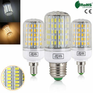 E27 E14 LED Maïs Ampoule 45W 30W 25W 20W 15W 12W 7W Clair 5730 SMD Blanche 220V