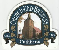 CHURCH END BREWERY - CUTHBERTS - PUMP CLIP FRONT