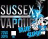 BLUE SLUSH SLUSHIE E-LIQUID HIGH VG 10ML VAPE  MADE BY SUSSEX VAPOUR UK