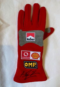 Michael Schumacher signed Ferrari F1 racing glove Formula 1 *RARE*