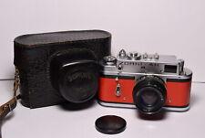 ZORKI 4K Red body Soviet / Russian 35mm Rangefinder Camera, Jupiter-8 (2/50)