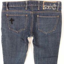 Ladies Womens All Saints SKINNY Skinny Leg Dark Blue Jeans W27 L30 UK Size 8
