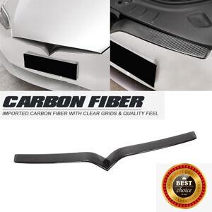 Fit For Tesla Model S 16-19 Front Center Grille Grill Cover Strip Carbon Fiber